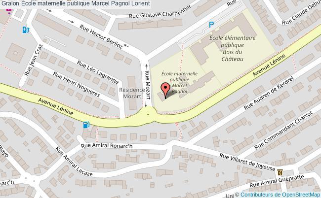 plan École Maternelle Publique Marcel Pagnol Lorient Lorient