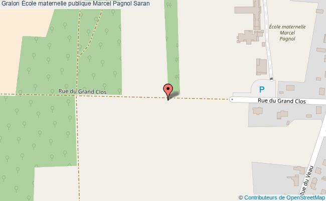 plan École Maternelle Publique Marcel Pagnol Saran Saran