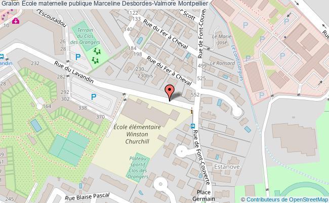 plan École Maternelle Publique Marceline Desbordes-valmore Montpellier Montpellier