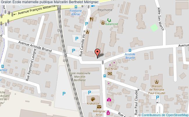 plan École Maternelle Publique Marcellin Berthelot Mérignac Mérignac