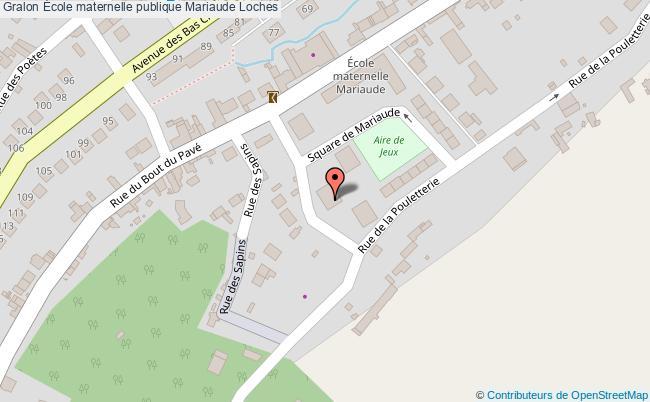plan École Maternelle Publique Mariaude Loches Loches