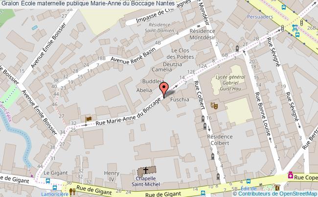 plan École Maternelle Publique Marie-anne Du Boccage Nantes Nantes