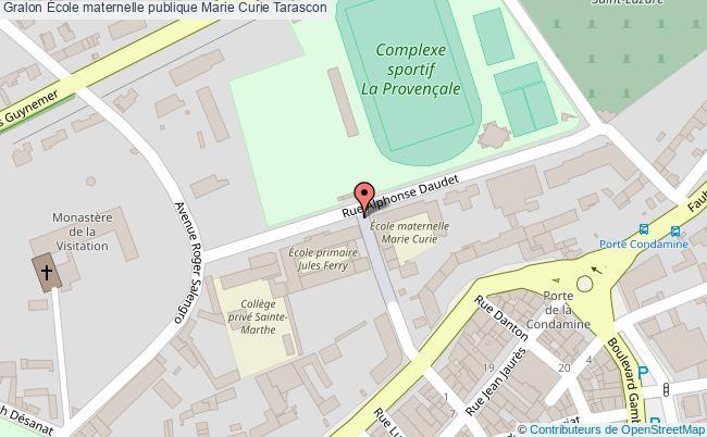 plan École Maternelle Publique Marie Curie Tarascon Tarascon