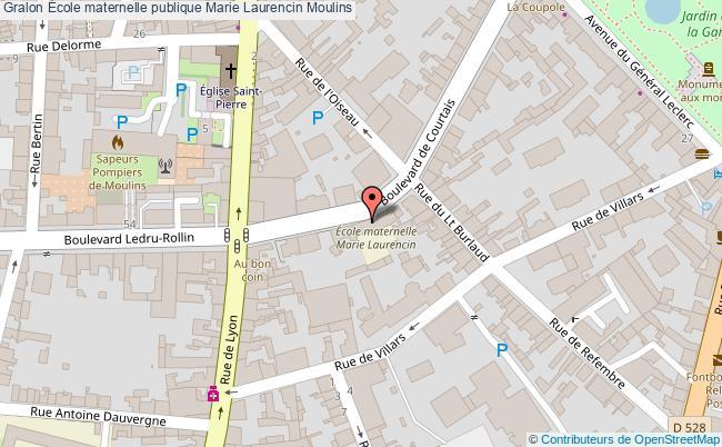 plan École Maternelle Publique Marie Laurencin Moulins Moulins