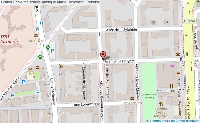 plan École Maternelle Publique Marie Reynoard Grenoble Grenoble