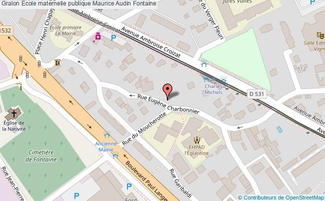 plan École Maternelle Publique Maurice Audin Fontaine Fontaine