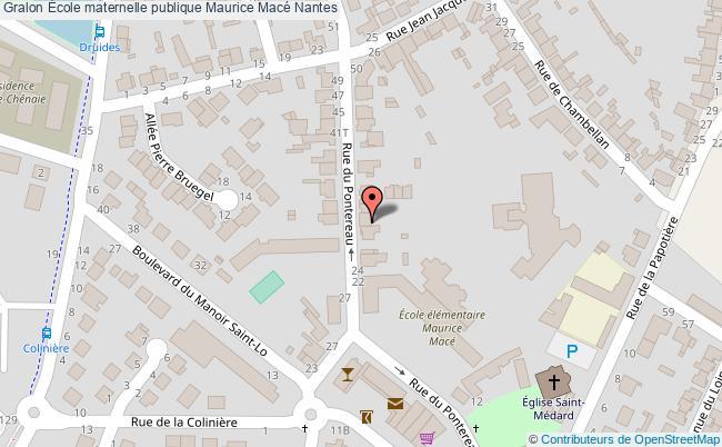 plan École Maternelle Publique Maurice Macé Nantes Nantes