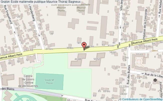 plan École Maternelle Publique Maurice Thorez Bagneux Bagneux