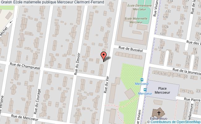 plan École Maternelle Publique Mercoeur Clermont-ferrand Clermont-Ferrand