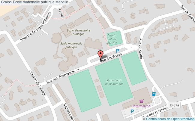 plan École Maternelle Publique Merville Merville