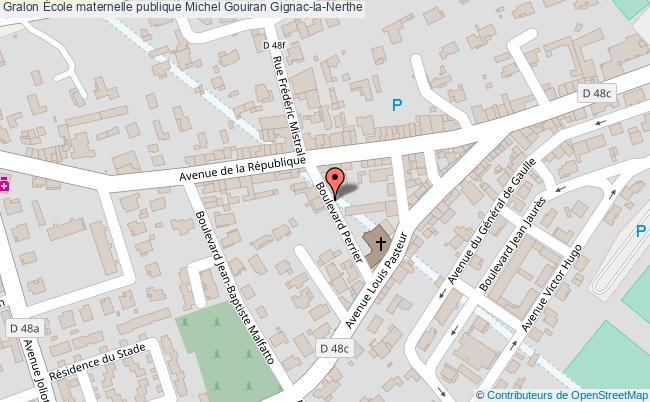 plan École Maternelle Publique Michel Gouiran Gignac-la-nerthe Gignac-la-Nerthe