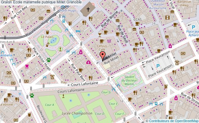 plan École Maternelle Publique Millet Grenoble Grenoble