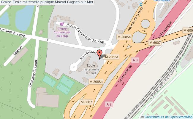 plan École Maternelle Publique Mozart Cagnes-sur-mer Cagnes-sur-Mer