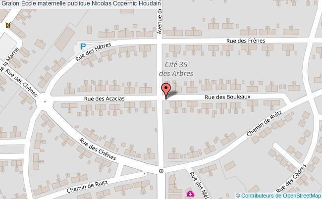 plan École Maternelle Publique Nicolas Copernic Houdain Houdain