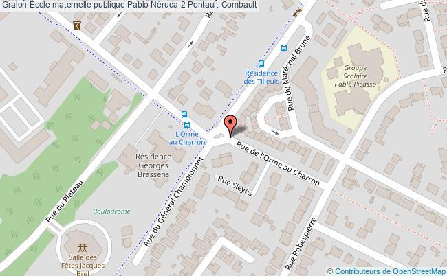 plan École Maternelle Publique Pablo Néruda 2 Pontault-combault Pontault-Combault
