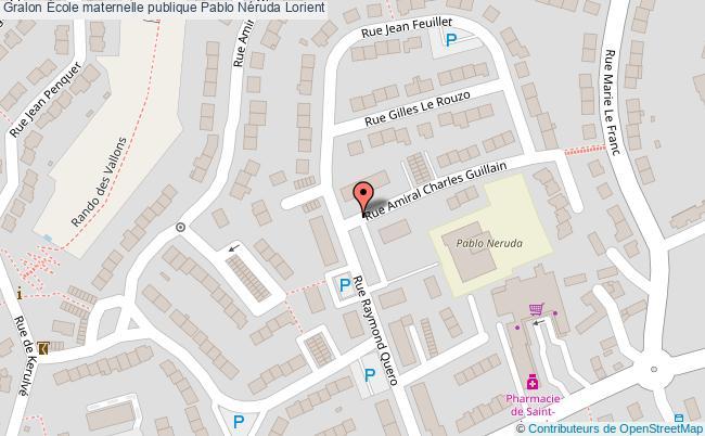 plan École Maternelle Publique Pablo Néruda Lorient Lorient