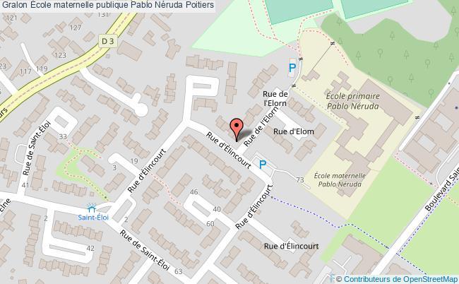 plan École Maternelle Publique Pablo Néruda Poitiers Poitiers