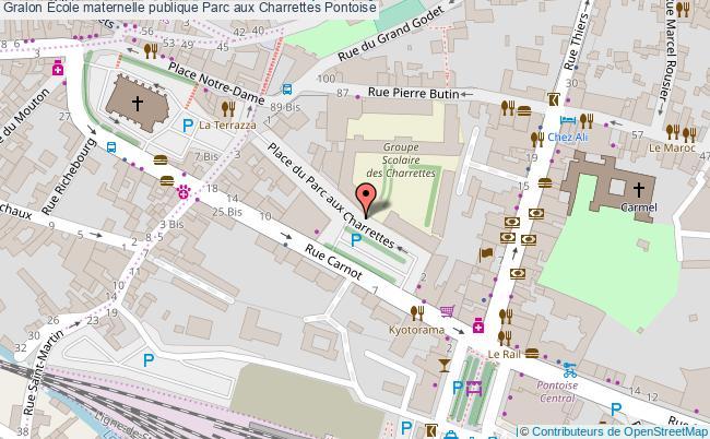 plan École Maternelle Publique Parc Aux Charrettes Pontoise Pontoise