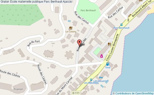 plan École Maternelle Publique Parc Berthault Ajaccio Ajaccio