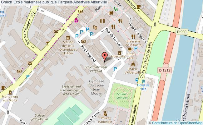 plan École Maternelle Publique Pargoud-albertville Albertville Albertville