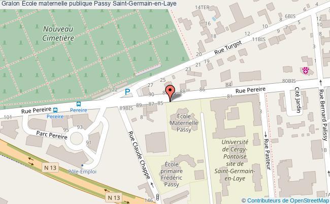 plan École Maternelle Publique Passy Saint-germain-en-laye Saint-Germain-en-Laye