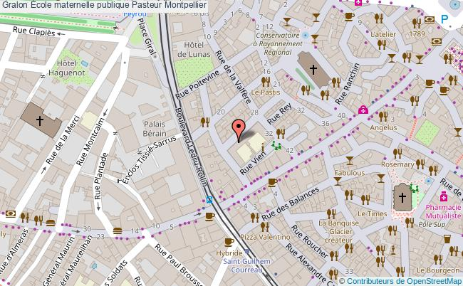 plan École Maternelle Publique Pasteur Montpellier Montpellier