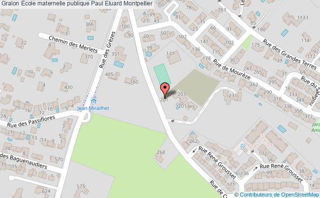 plan École Maternelle Publique Paul Eluard Montpellier Montpellier