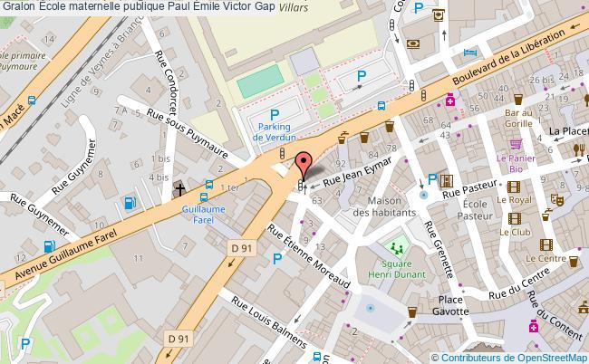 plan École Maternelle Publique Paul Émile Victor Gap Gap