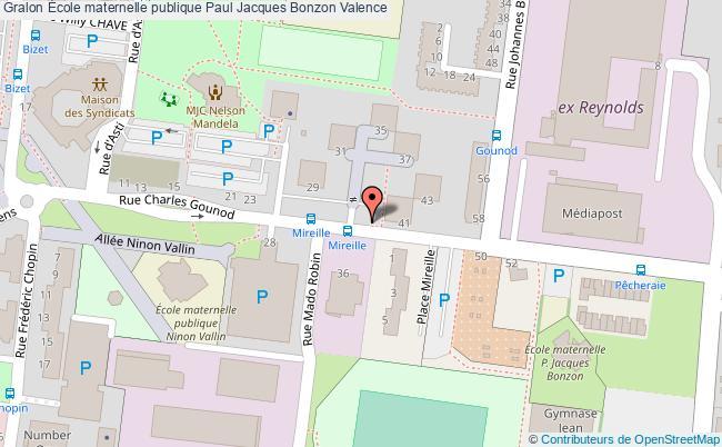 plan École Maternelle Publique Paul Jacques Bonzon Valence Valence