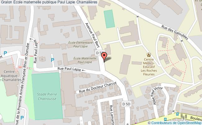 plan École Maternelle Publique Paul Lapie Chamalières Chamalières