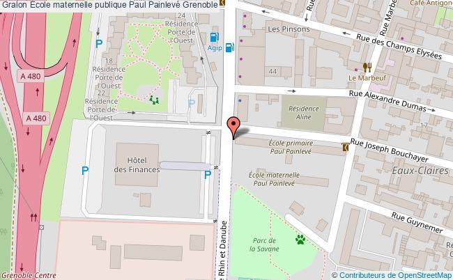 plan École Maternelle Publique Paul Painlevé Grenoble Grenoble