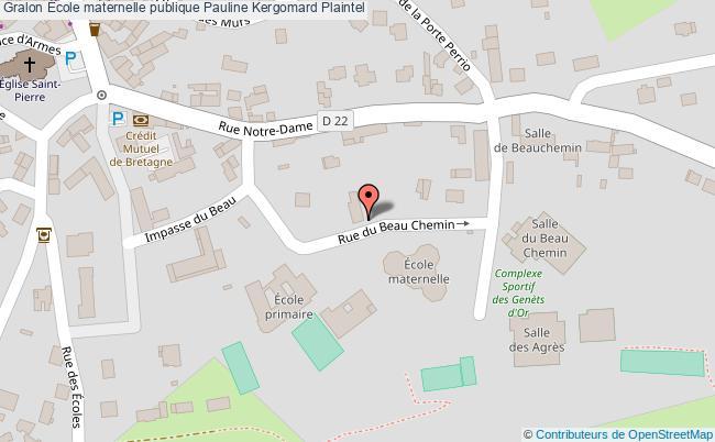plan École Maternelle Publique Pauline Kergomard Plaintel Plaintel