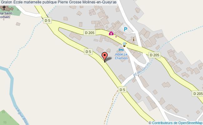 plan École Maternelle Publique Pierre Grosse Molines-en-queyras Molines-en-Queyras