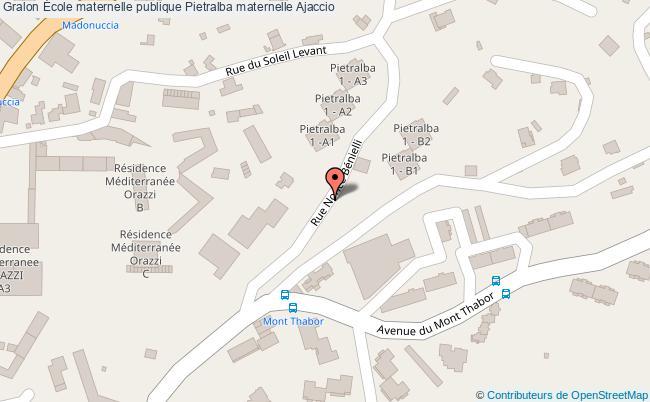plan École Maternelle Publique Pietralba Maternelle Ajaccio Ajaccio