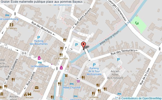 plan École Maternelle Publique Place Aux Pommes Bayeux Bayeux
