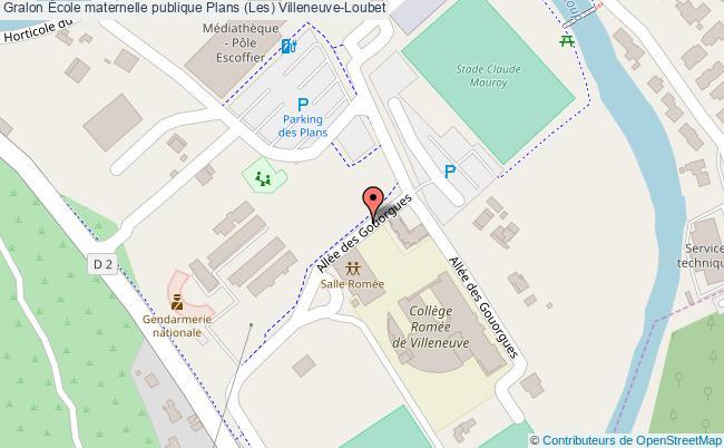 plan École Maternelle Publique Plans (les) Villeneuve-loubet Villeneuve-Loubet