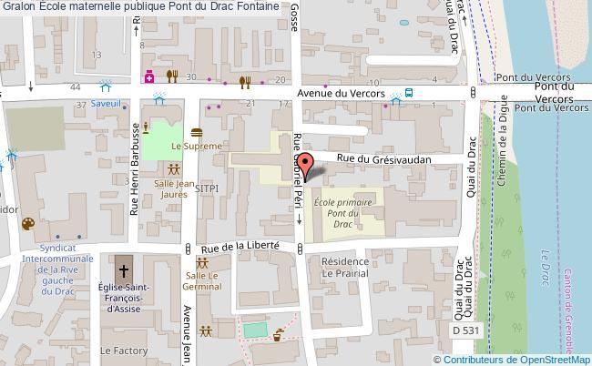 plan École Maternelle Publique Pont Du Drac Fontaine Fontaine