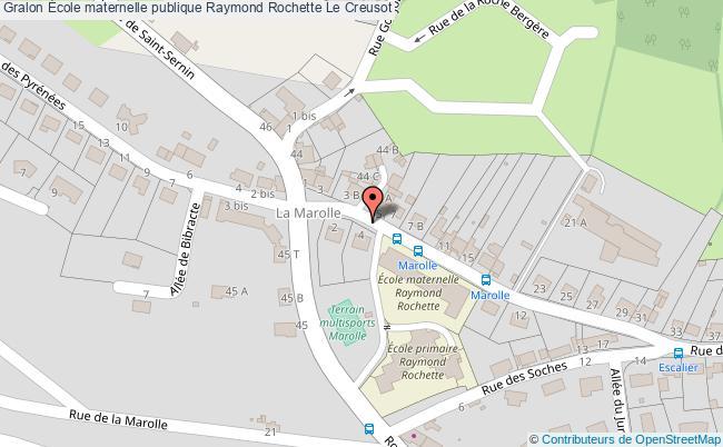 plan École Maternelle Publique Raymond Rochette Le Creusot Le Creusot
