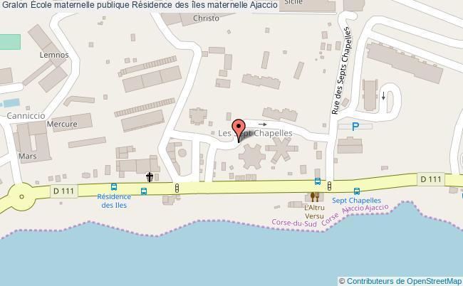 plan École Maternelle Publique Résidence Des îles Maternelle Ajaccio Ajaccio