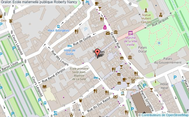 plan École Maternelle Publique Roberty Nancy Nancy