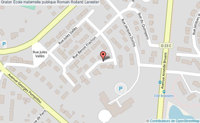 plan École Maternelle Publique Romain Rolland Lanester Lanester