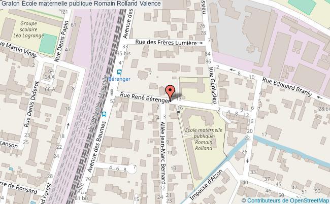 plan École Maternelle Publique Romain Rolland Valence Valence