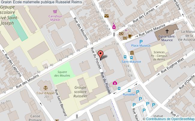plan École Maternelle Publique Ruisselet Reims Reims