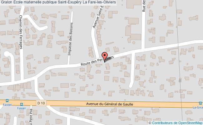 plan École Maternelle Publique Saint-exupéry La Fare-les-oliviers La Fare-les-Oliviers