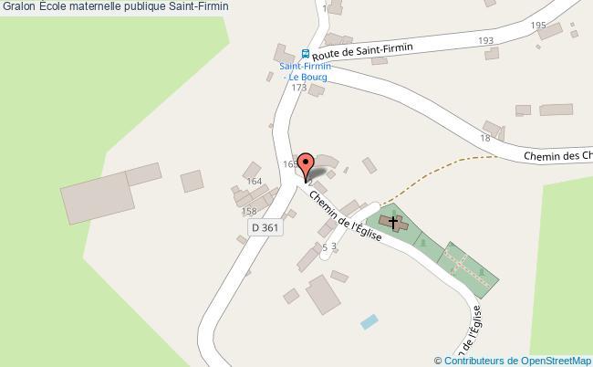 plan École Maternelle Publique Saint-firmin Saint-Firmin