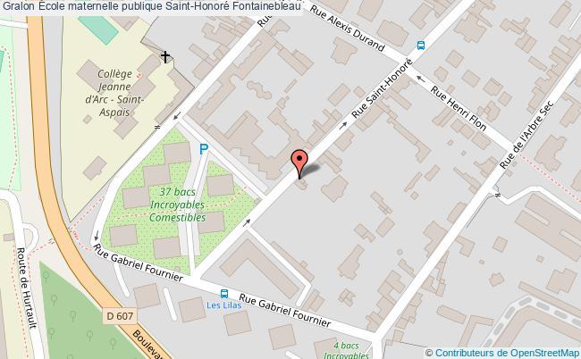 plan École Maternelle Publique Saint-honoré Fontainebleau Fontainebleau