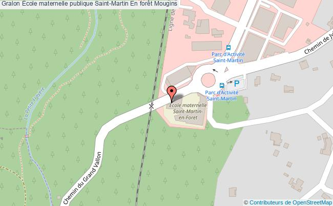 plan École Maternelle Publique Saint-martin En Forêt Mougins Mougins