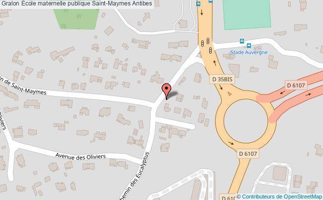 plan École Maternelle Publique Saint-maymes Antibes Antibes