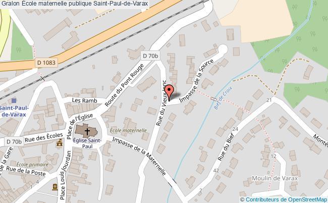 plan École Maternelle Publique Saint-paul-de-varax Saint-Paul-de-Varax