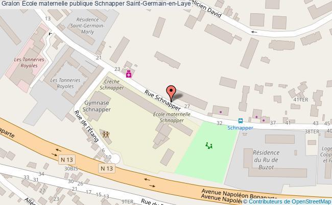 plan École Maternelle Publique Schnapper Saint-germain-en-laye Saint-Germain-en-Laye